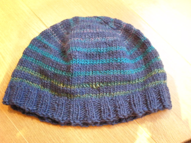 Blue Stripey Hat