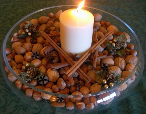 Pane al pane vino al vino centrotavola natalizio e for Centrotavola natale pigne