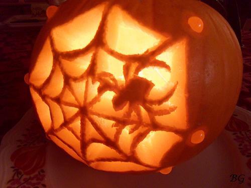 Spider Web Pumpkin Carving