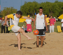 rugby union(0.0), beach handball(0.0), beach volleyball(0.0), tournament(0.0), sports(1.0), competition event(1.0), football(1.0), ball game(1.0),