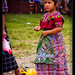Young girl and her inflatable teletubbie, Guatemala (2)