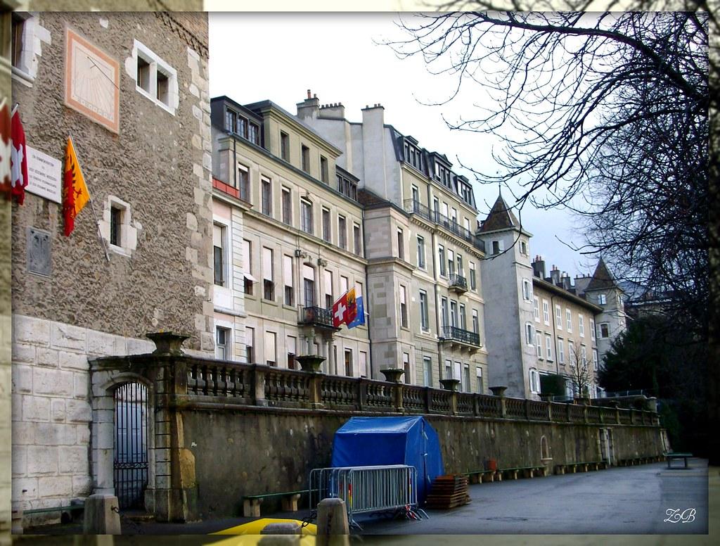 Tour Baudet et Hôtel de Ville, Genève - Baudet Tower and Town Hall, Geneva