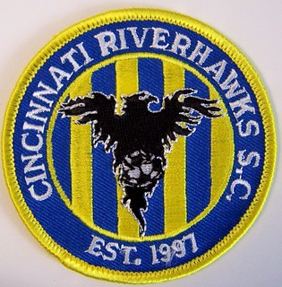 CINCINNATI RIVERHAWKS USL soccer patch