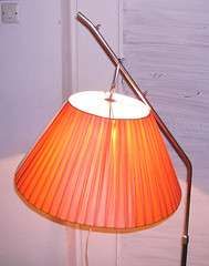 orange, lamp, light fixture, yellow, lampshade, lighting,