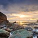 Green Rocks Sunset - John Muir Beach California