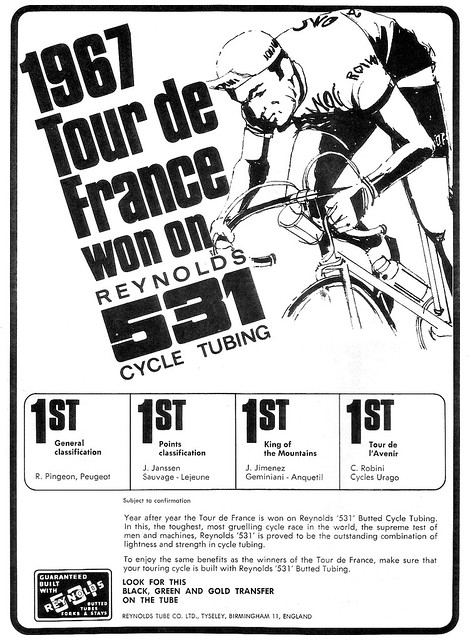 Reynolds 1967 531 Tour de France