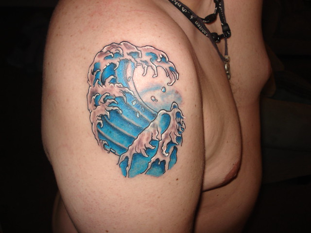 Ocean Wave Tattoos