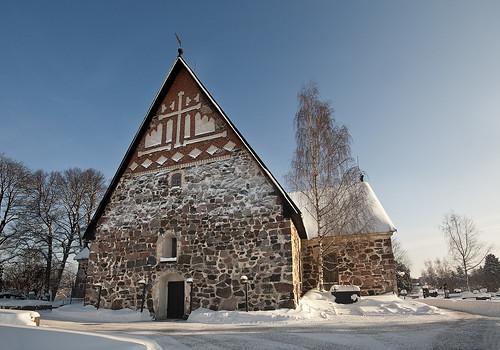 winter snow espoo finland dom kirche kirkko tuomiokirkko curch cathedtal