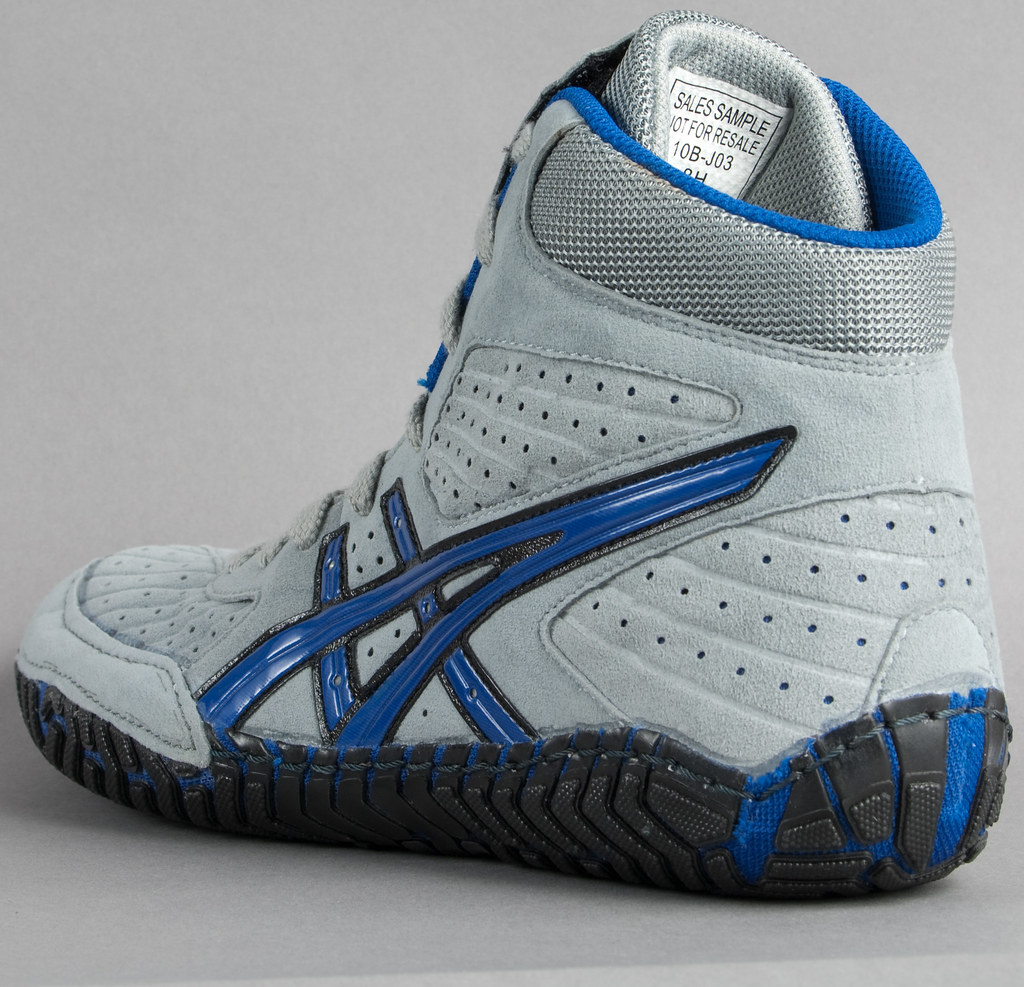 asics aggressor wrestling shoes red white and blue
