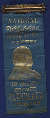 Cleveland National Democratic Convention Ribbon, 1892