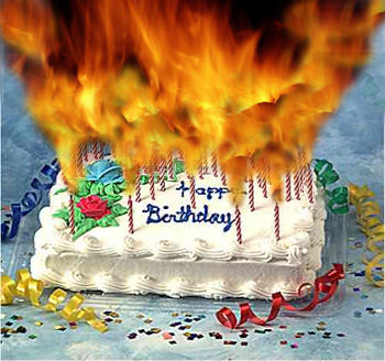 Flaming Birthday Cake Flickr Photo Sharing