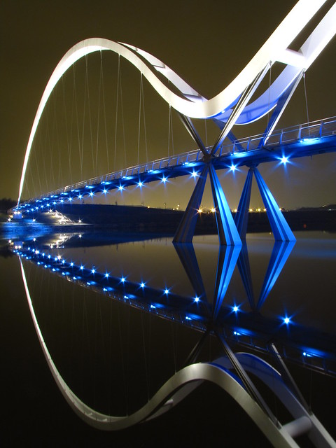 Infinity Bridge or a fish.