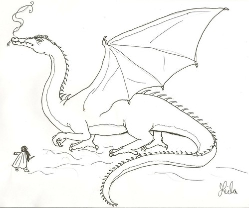 free the hobbit smaug coloring pages