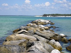 Shell Island Jetty St Andrews State Park Florida Panhan