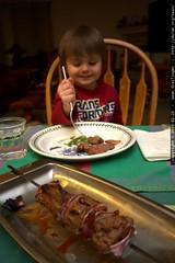sequoia really likes cow steak shish ke bab
