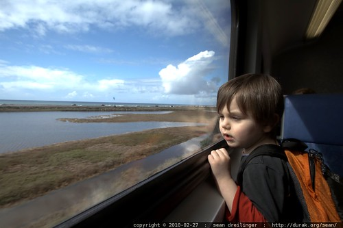enjoying carmel valley lagoon on the coaster train