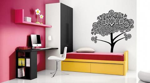 Dormitorios juveniles decoraci n hogar ideas y cosas for Murales dormitorios juveniles