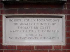 Photo of Thomas Brickett stone plaque