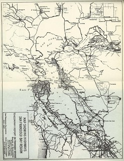 Map Showing Highways San Francisco Bay Region to Accompany Report on Transbay Bridge (1927)