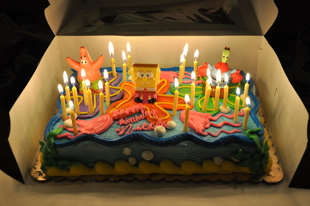how to make a spongebob birthday cake