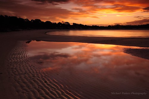 longexposure sunset landscape australia tasmania wineglassbay