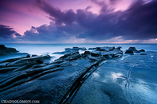 ocean pink seascape reflection wet water rain rock clouds contrast sunrise canon reflections dawn coast twilight rocks purple pacific cloudy chad extreme wave australia pacificocean qld queensland canon5d rays colourful sunrays canonef1740mmf4lusm sunshinecoast solomon rainclouds seaspray rockpool reflecton queenslands fluffyclouds iso50 chadsolomon rainclounds wavemyst cloundblur wavemist