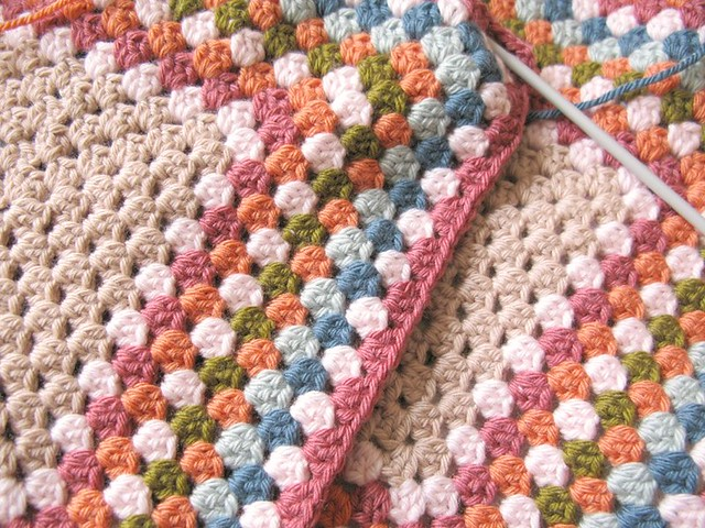 Pink crochet wip in my studio today! | Emma Lamb
