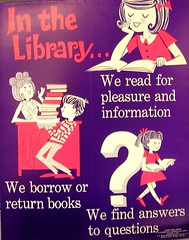RETRO POSTER - In the Library