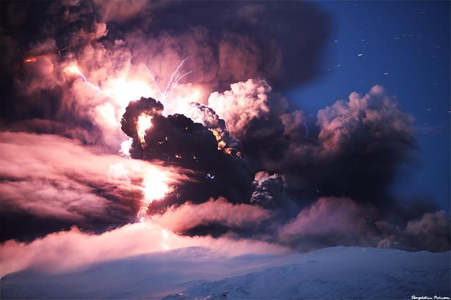 Evil Forces, Eyjafjallajökull Erupting Volcano - Iceland