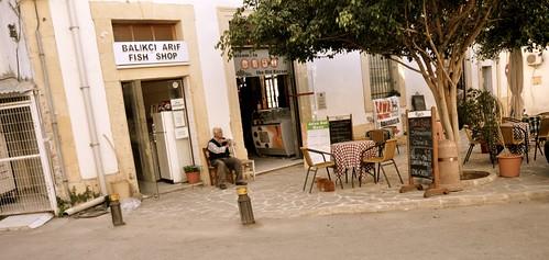 fish shop, cyprus.