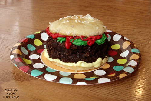 A Hamburger Cupcake