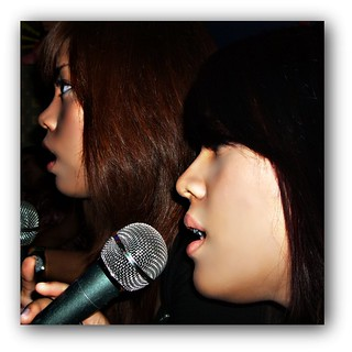 My girls, singing.