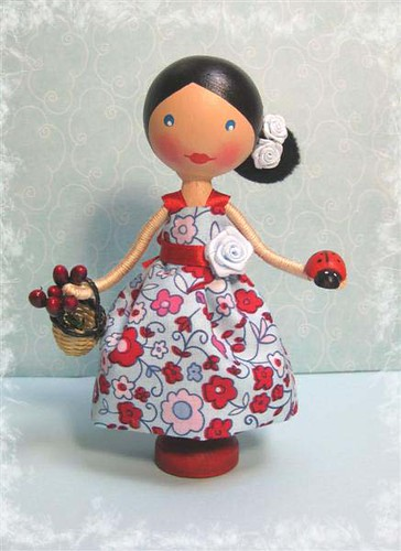 Rosetta - Spanish Inspired Clothespin Doll (sold)
