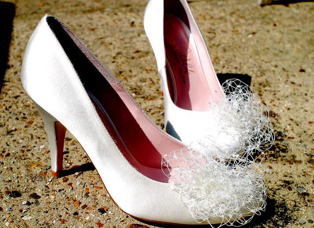 Ivory Wedding Shoes Rhinestones