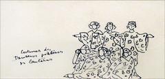 Costumes d'Henri Matisse pour le chant du rossignol (les Ballets russes, Opéra)