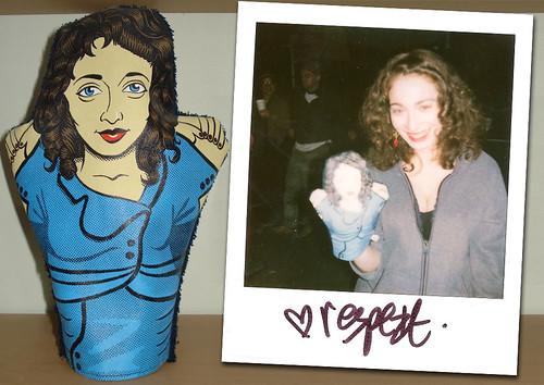 Regina Spektor hand puppet