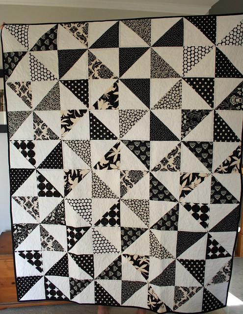 Black white and gray quilts a gallery on flickr for Black white and gray quilt patterns