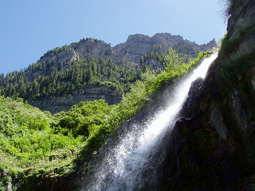 The Lower Falls on the Aspen Grove trail of Mount Timpanogos.
