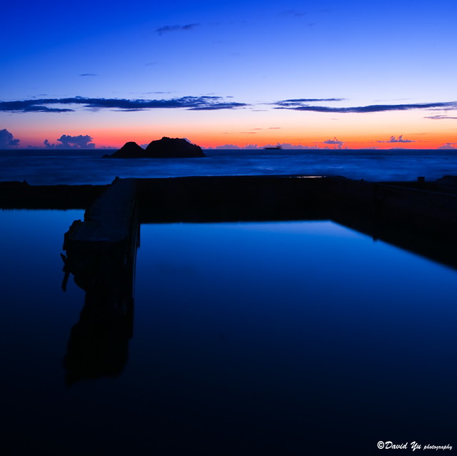blue moment at Sutro bath