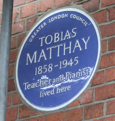 Photo of Tobias Matthay blue plaque