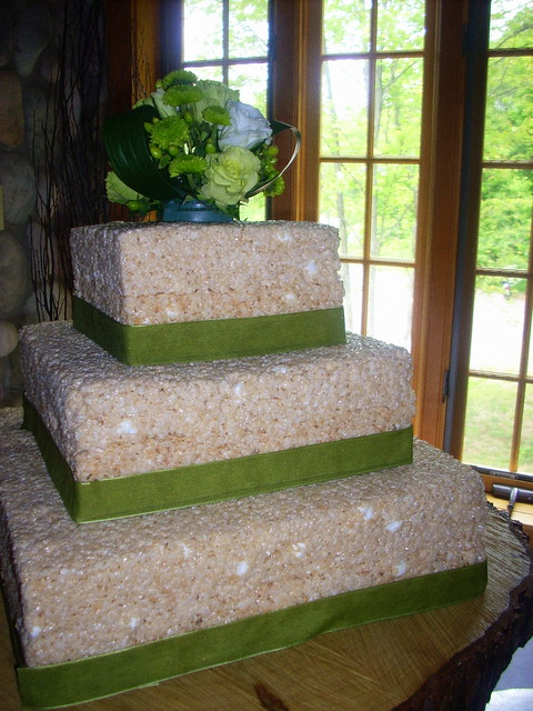 something different rice krispie treat wedding cakes inspiration project wedding forums. Black Bedroom Furniture Sets. Home Design Ideas