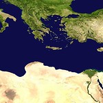 Satellite Image of the Mediterranean Sea