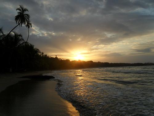 sunset beach costarica playa 海滩 夕阳 哥斯达黎加