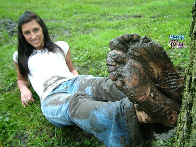 narrative essay muddy mud foot