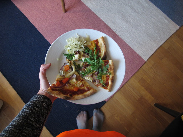 friday, pizza and skam, at sofia's, helsingborg