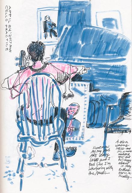 Sketchbook #104: Cello Practice