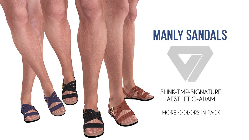 Manly Sandals - SecondLifeHub.com