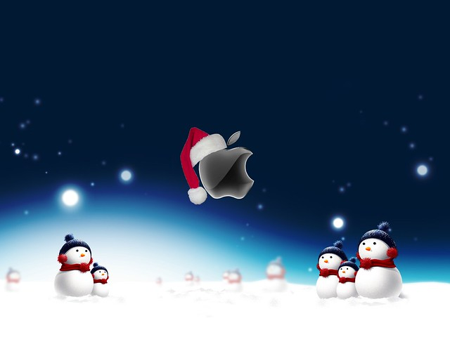 Apple Christmas Wallpaper