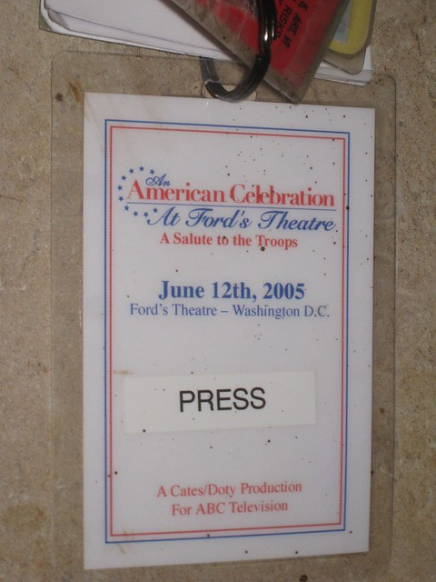 Misc press tags and credentials