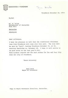 1979-12-22 - Forsendelse av juletre til Amsterdam